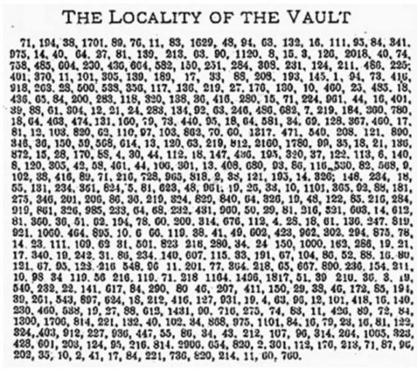 beale ciphers