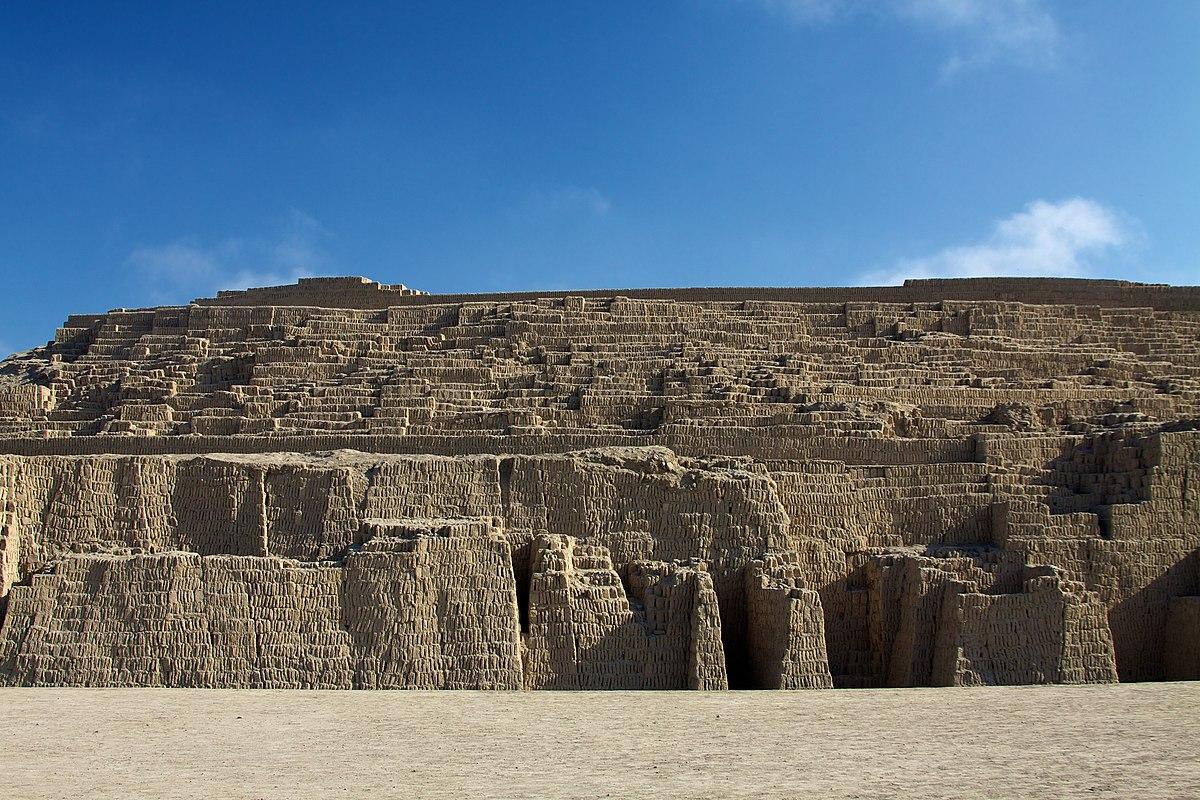 Huaca Pucllana, lugar del distrito Miraflores, Perú